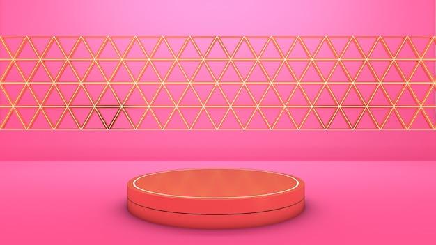 3d-рендеринг круглого подиума для выставочного продукта