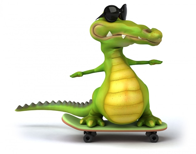 3d-рендеринг крокодила