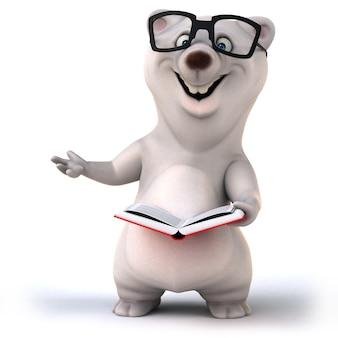 Перевод 3d милого чтения медведя