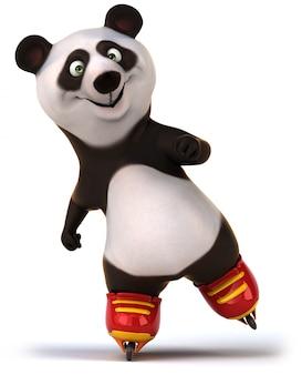 3d-рендеринг милая панда