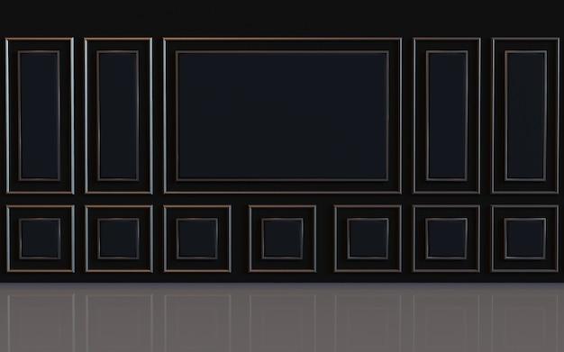 3d-рендеринг дизайнерской стены комнаты пустой с отделкой мягкой стеновой панелью