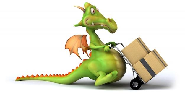 3d-рендеринг дракона