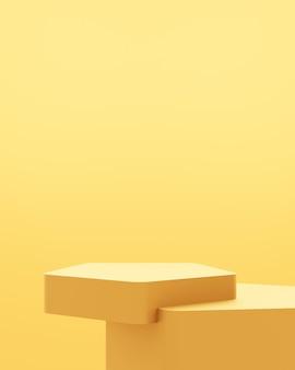 3d-рендеринг пустой золотой подиум абстрактный минимальный фон.