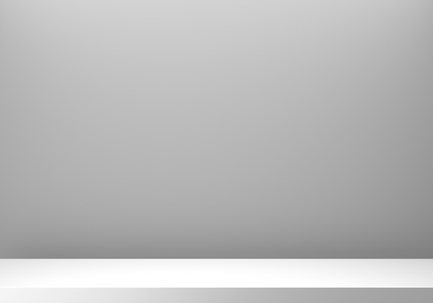 빈 회색 연단 추상 최소한의 배경의 3d 렌더링.