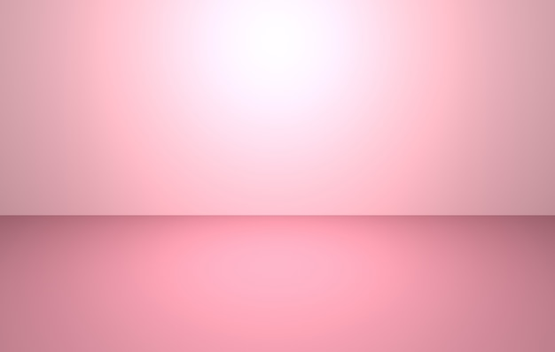 3d-рендеринг пустого розового абстрактного минимального фона концепции