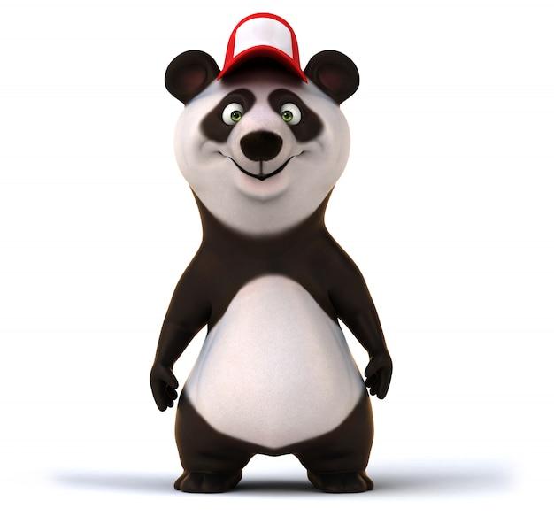 3d-рендеринг забавного 3d-рендеринга забавного медведя панды