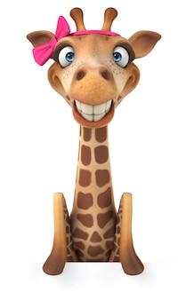 3d-рендеринг смешного жирафа