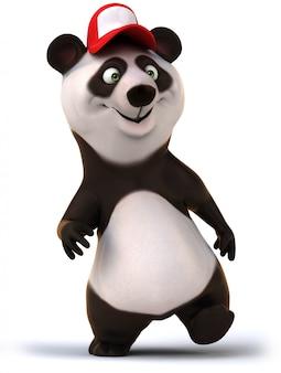 3d-рендеринг забавного медведя панды
