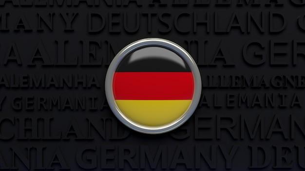 ドイツの国旗の3dレンダリング