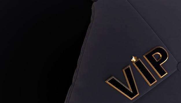 3d-рендеринг золотой vip crown, королевская золотая vip-корона на подушке, crown vip