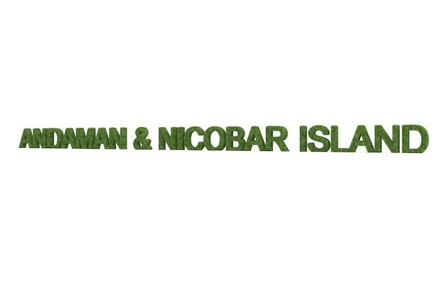 分離された緑の草アンダマンとニコバル語の3dレンダリング