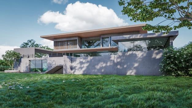 家の視覚化の3dレンダリング