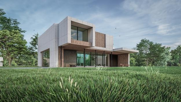 Визуализация 3d визуализации дома