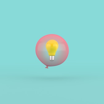 赤い風船の電球の3dレンダリング。