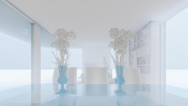 居間のイラストの3dレンダリング