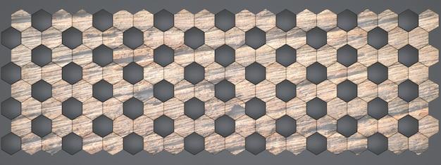 3d-рендеринг мраморных и деревянных стеновых панелей.