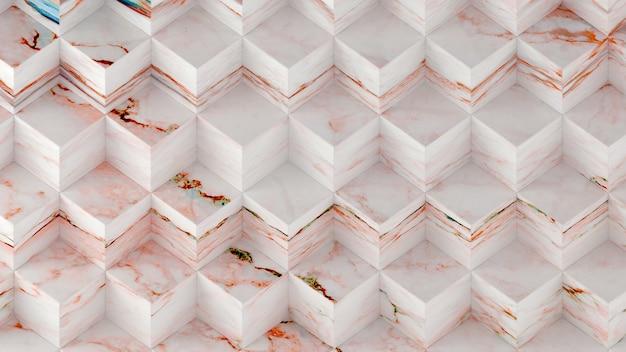 3d-рендеринг панелей из мраморных геометрических шестиугольников.