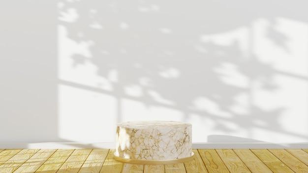 제품 배경을 표시하기 위한 대리석 연단의 3d 렌더링. 쇼 제품에 대한 모형.