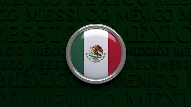 メキシコの国旗の3dレンダリング