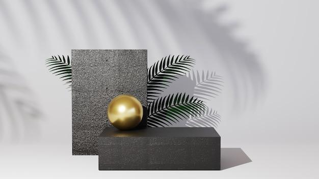 3d-рендеринг фона макета. подиум для выставочного продукта. пустая витрина сцены с пустой круглой сценой.