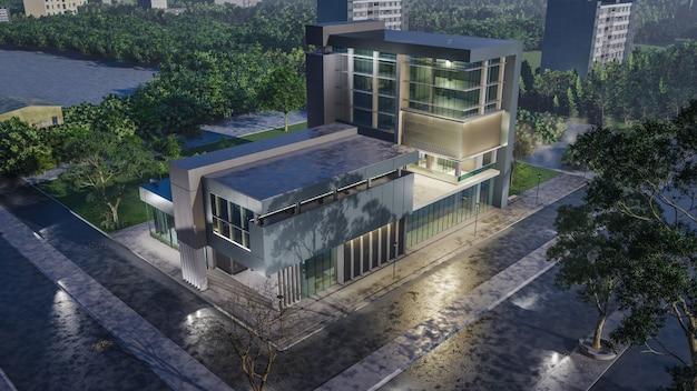 3d-рендеринг современного дома