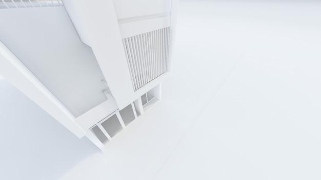 現代のホワイトハウスのイラストの3dレンダリング