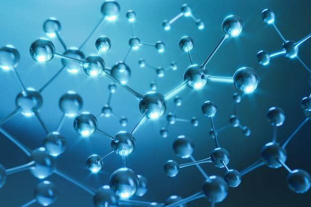 3d-рендеринг молекул из человеческого тела