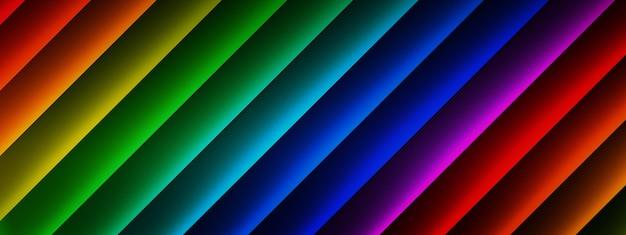 여러 가지 빛깔의 선, 기하학적 요소 배경의 3d 렌더링