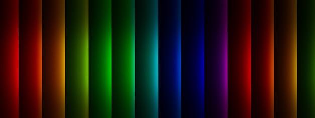 여러 가지 빛깔의 수직선, 기하학적 요소 배경의 3d 렌더링
