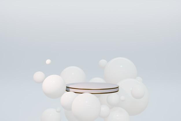Перевод 3d подиума постамента, космоса абстрактного минимального дисплея пустого. геометрия подиума для косметического косметического продукта.