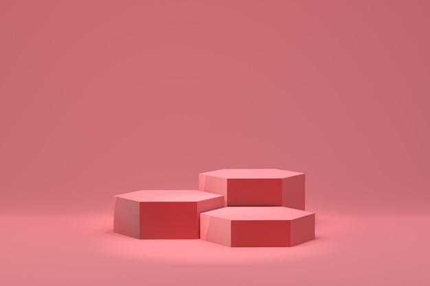 핑크 연단의 3d 렌더링