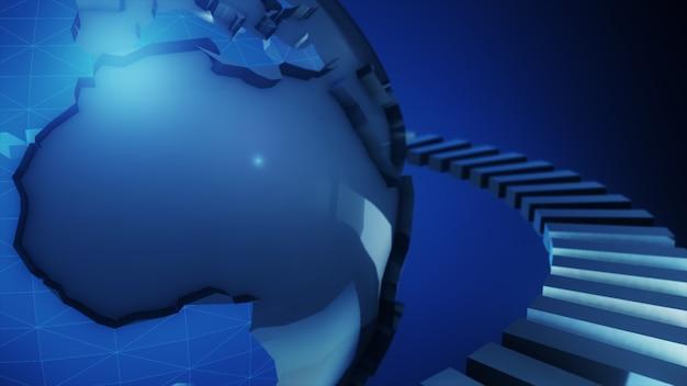 3d-рендеринг планеты земля