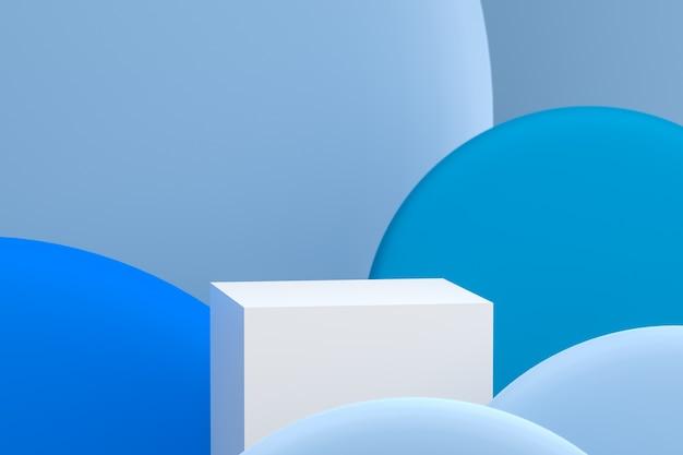 3d-рендеринг подиума на абстрактном фоне