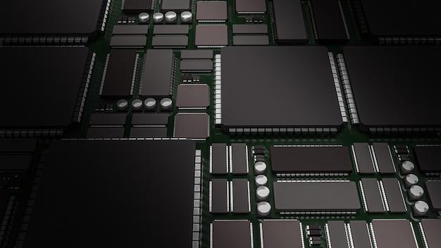プリント回路基板の3dレンダリング