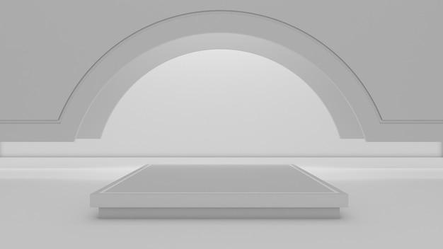 ショー製品の長方形の表彰台の3dレンダリング