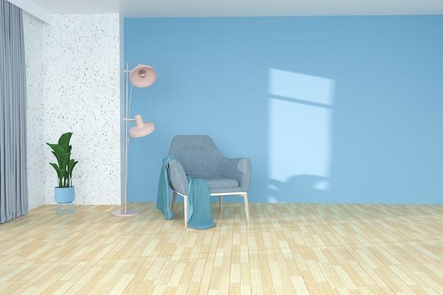 製品展示用のリビングルームのソファの3dレンダリング