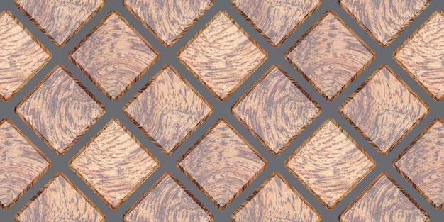 3d-рендеринг квадратных стеновых панелей.