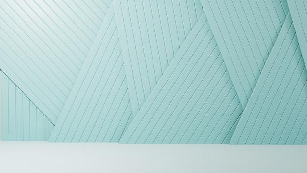 제품 전시용 배경의 3d 렌더링은 파란색 슬레이트 배경입니다. 쇼 제품을 위해. 빈 장면 쇼케이스 모형.