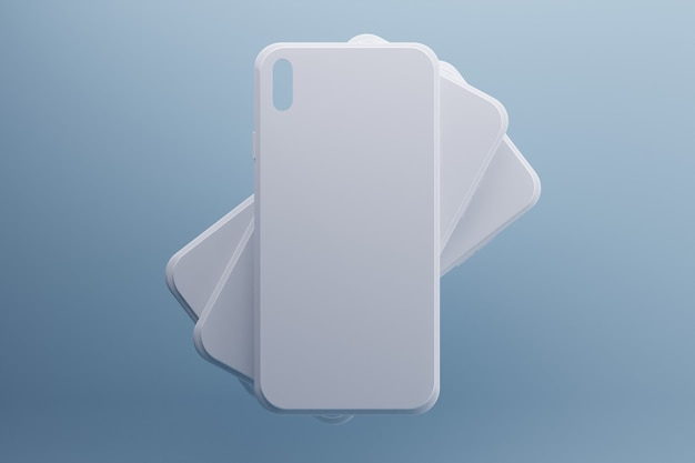 흰색 전화 케이스의 3d 렌더링