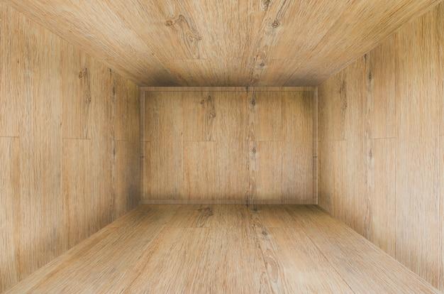 木製の壁と床の3dレンダリング。 3dルームの背景。