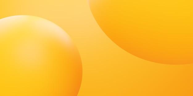 3d-рендеринг желтого оранжевого круга абстрактного минимального фона сцены для рекламного дизайна Premium Фотографии