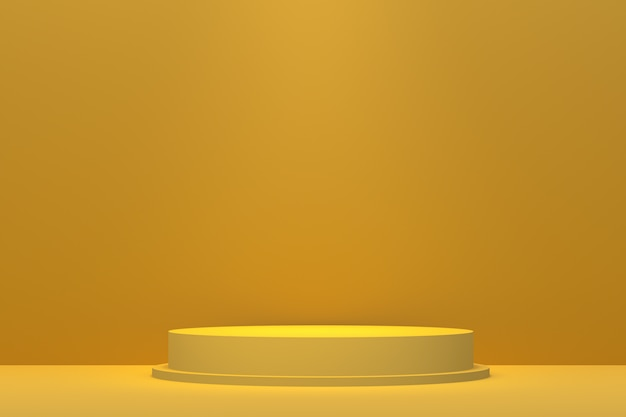 3d-рендеринг желтого подиума