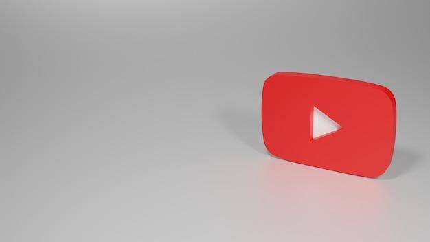 Youtubeロゴの3dレンダリング