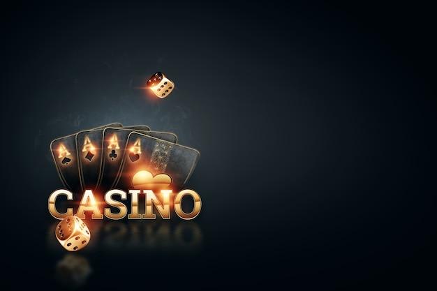 オンラインギャンブルの3dレンダリング