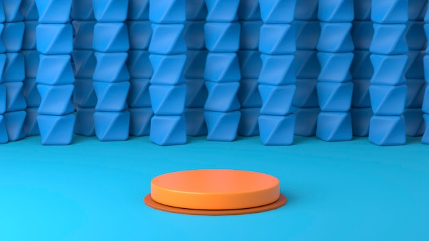 3d rendering of an orange podium