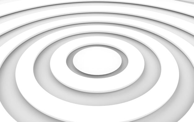 3d рендеринг. перспективный вид художественного белого круга искусства пола фона.