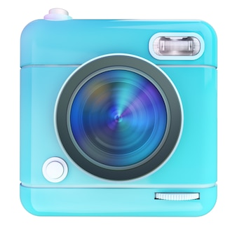 3d rendering of a photo camera icon
