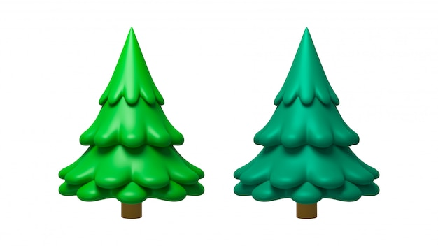 3d rendering of pine trees