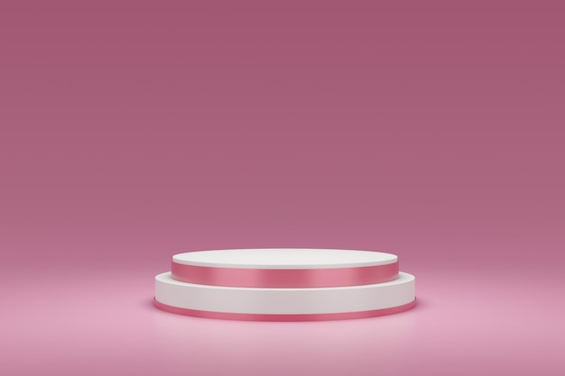 3d rendering of pink podium
