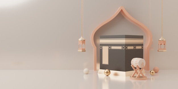 3d-рендеринг подиумной демонстрации продукта концепции продажи ид мубарак